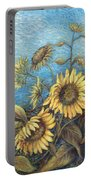 Late Sunflowers  Portable Battery Charger