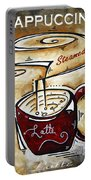 Latte By Madart Portable Battery Charger by Megan Duncanson
