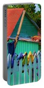 Laundry Day Portable Battery Charger by Debbi Granruth