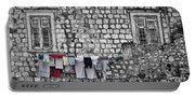 Laundry Line - Dubrovnik Croatia #3 Portable Battery Charger