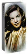 Lauren Bacall - Vintage Painting Portable Battery Charger