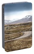 Lava Field In Iceland Portable Battery Charger
