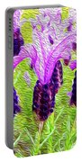Lavender Abstract Portable Battery Charger