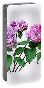 Lavender And Rose Hydrangeas Portable Battery Charger