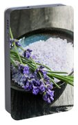 Lavender Bath Salts In Dish Portable Battery Charger