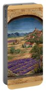 Lavender Fields And Village Of Provence Portable Battery Charger
