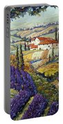 Lavender Fields Tuscan By Prankearts Fine Arts Portable Battery Charger