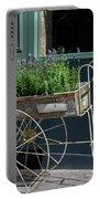 Lavender Flower Cart In Montmarte Paris Portable Battery Charger