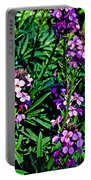 Verbena At Pilgrim Place In Claremont-california   Portable Battery Charger