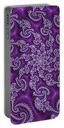 Lavender Fractal  Portable Battery Charger