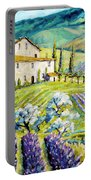 Lavender Hills Tuscany By Prankearts Fine Arts Portable Battery Charger