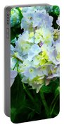 Lavender Hydrangea In Garden Portable Battery Charger