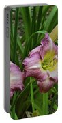 Lavender Lily Triad Portable Battery Charger