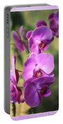 Lavender Orchids Portable Battery Charger