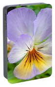 Lavender Pansy Portable Battery Charger