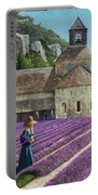Lavender Picker - Abbaye Senanque - Provence Portable Battery Charger