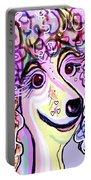 Lavender Poodle Portable Battery Charger
