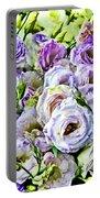 Lavender Ranunculus  Portable Battery Charger