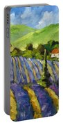 Lavender Scene Portable Battery Charger