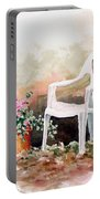 Lawn Chair With Flowers Portable Battery Charger