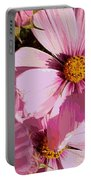 Layers Of Pink Cosmos - Digital Art Portable Battery Charger