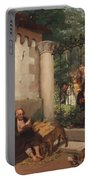 Lazarus And The Rich Man 1865 Portable Battery Charger