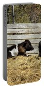 Lazy Cows And Weathered Wood Portable Battery Charger