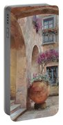 Le Arcate In Cortile Portable Battery Charger by Guido Borelli