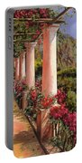 Le Colonne E La Buganville Portable Battery Charger by Guido Borelli