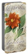 Le Jardin Dahlias Portable Battery Charger