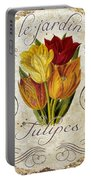 Le Jardin Tulipes Portable Battery Charger