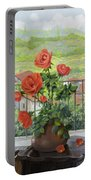 Le Persiane Sulla Valle Portable Battery Charger by Guido Borelli