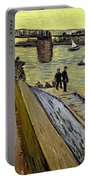 Le Pont De Trinquetaille In Arles Portable Battery Charger by Vincent Van Gogh