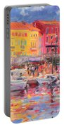 Le Port De St Tropez Portable Battery Charger by Peter Graham