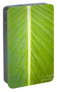 Leaf Close-up Portable Battery Charger