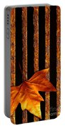 Leaf In Drain Portable Battery Charger by Carlos Caetano