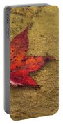 Leaf In The Rain Nature Photograph Portable Battery Charger