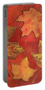 Leaf Prints And Zentangles Portable Battery Charger