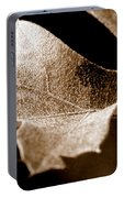 Leaf Study In Sepia Portable Battery Charger