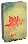 Leaf Upon The Water Portable Battery Charger