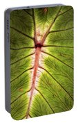 Leaf With Veins Portable Battery Charger