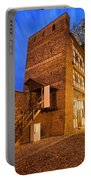 Leaning Tower By Night In Torun Portable Battery Charger