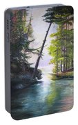 Leaning Tree Lake George Portable Battery Charger