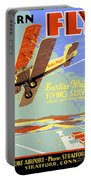Learn To Fly Vintage Poster Restored Portable Battery Charger
