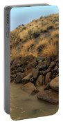 Learn To Swim, Creek Bed Quickly Filling With Water During Autumn Rainstorms In The High Desert Portable Battery Charger