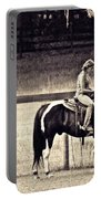 Learning To Ride Sepia Portable Battery Charger