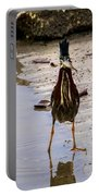 Least Bittern With A Fish Portable Battery Charger