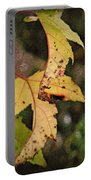 Leaves And Autumn Portable Battery Charger