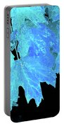 Leaves In Blue Portable Battery Charger
