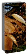Leaves In Late Autumn Portable Battery Charger